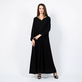 Long Sleeve Dress - Black - S to M