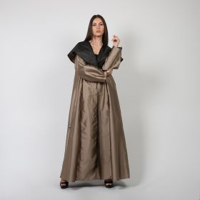 Shanton Face Bisht with Black Lining - Beige