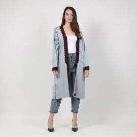 Fashion Bisht - Grey & Maroon
