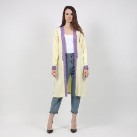Fashion Bisht - Yellow & Purple