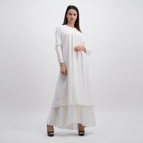 Cotton Linen Dress - White