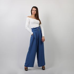 Linen Pants - Blue - Small