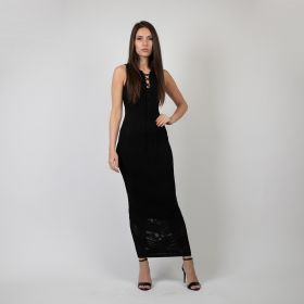 Sleeveless Dress - Black - Medium