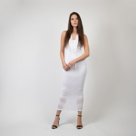 Sleeveless Dress - White