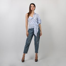 Tie Around Top - Blue & White - Medium