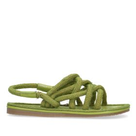 Roped Sandal With Heel Strap - Green
