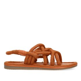 Roped Sandal With Heel Strap - Brown