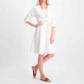 Belted Dress - White