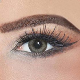 Diamond Plano Contact Lenses - Almond Gray - Plano