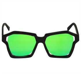 Eight Sunglasses Bold Shades Tortoise and Green Mirror