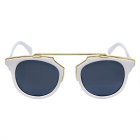 Belvoir & Co. White Cat Black Lens / White Frame Sunglasses