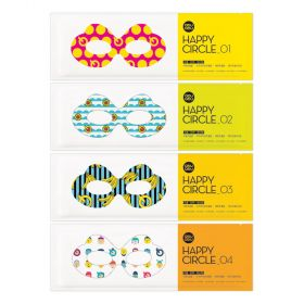 Aqu aqu - Happy Circle Eye Kit Mask - 4pcs