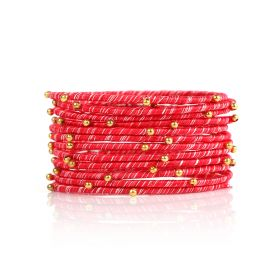 Striped Bangles - Red