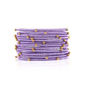 Bangles with Beads - Violet