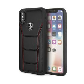 Genuine Leather Hard Case For iPhone X/XS - Black