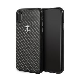 Real Carbon Hard Case For iPhone X / XS - Black