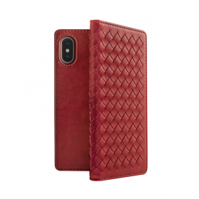 Tejido Folio Case For iPhone XS Max - Red