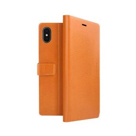Finura Cierre Folio Case For iPhone XS Max - Brown