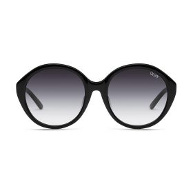 Round Tinted Love Sunglasses - Black/Smoke Fade