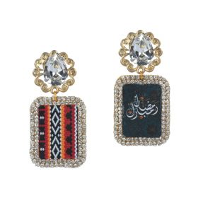 Swarovski Stones Framed Earrings