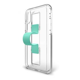 SlideVue Clear/Mint Case With Unequal Technology for iPhone - X/Xs
