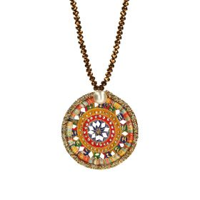 Crystal Necklace - Red & Yellow