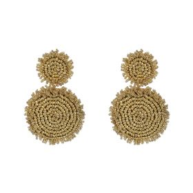 Beads Earings - Light Brown