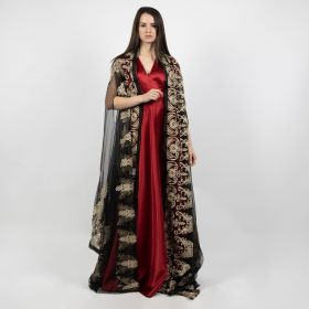 Sleeveless Bisht - Black
