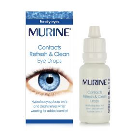 Contacts Refresh & Clean Eye Drops - 15ml