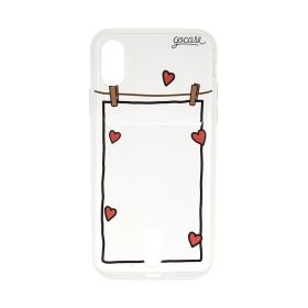 Transparent Heart Wallet Case - iPhone X/Xs