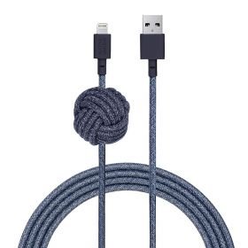 Night Lightning USB A 3m Cable - Indigo