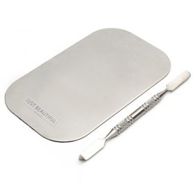 Just Beautiful Accessories Mixing Palette & Spatula Sculpting Tool - Sleek