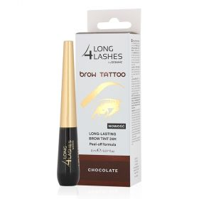 Long  4 Lashes - EyeBrow tattoo long lasting brow tint -  8 ml - Chocolate