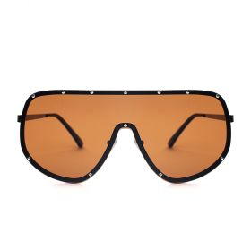 Y8 - Amber Mask Brown Sunglasses