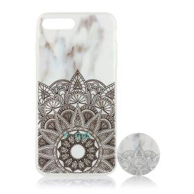 Focus Cases - Fractal Design with PopSocket Phone Case with Phone Grip - iPhone 7+, 8+