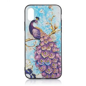 Focus Cases - 3D Purple Peacock Phone Case - iPhone 7+, 8+