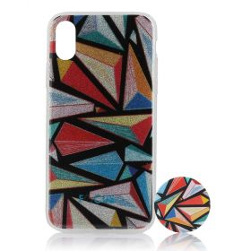 Focus Cases - 3D Triangles Phone Case with Phone Grip - iPhone X