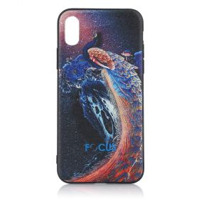 Focus Cases - 3D Navy Blue Peacock Phone Case - iPhone X