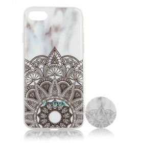 Focus Cases - Fractal Design with PopSocket Phone Case with Phone Grip - iPhone 7, 8