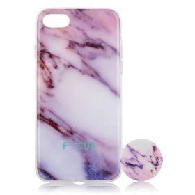 Focus Cases - Pink Marble with PopSocket Phone Case with Phone Grip - iPhone 7, 8