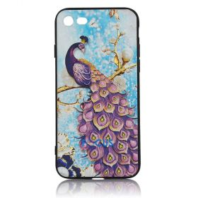 Focus Cases - 3D Purple Peacock Phone Case - iPhone 7, 8
