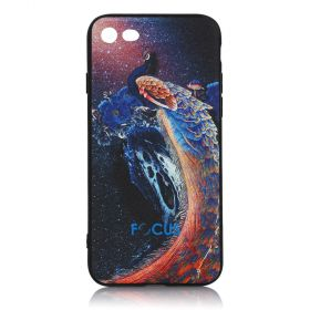 Focus Cases - 3D Navy Blue Peacock Phone Case - iPhone 7, 8