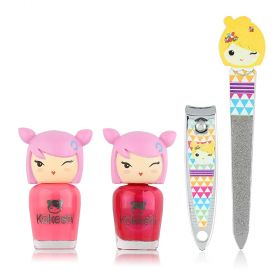 Kokeshi - Iam Lucky Set (2 Nail Polish -1 Nail File -1 Nail Clipper)