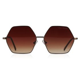 Dana Al Tuwairish - Smoke Octagon Brown Sunglasses