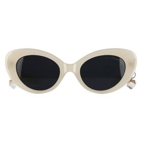 Dana Al Tuwairish - Cat Eye Black & White Sunglasses