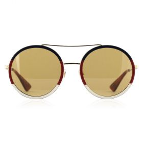 Gucci -  Aviator Brown & Gold Sunglasses