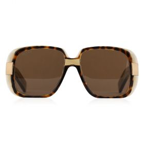Gucci -  Rectangular Brown & Havana Sunglasses