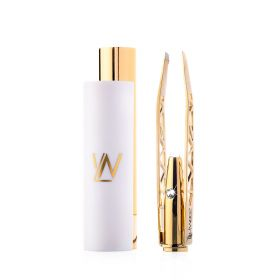 Diamond Dust Illuminating Tweezer - Gold Plated Case