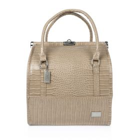 Crocodile Make Up Bag - Beige