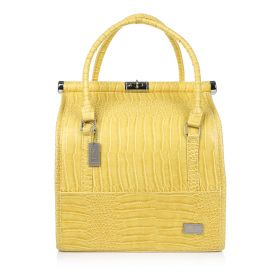 Crocodile Make Up Bag - Yellow